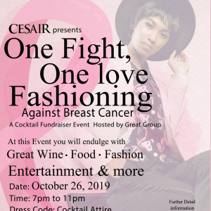 Cesair presents: One fight, One love - bringing awareness and fighting the cause