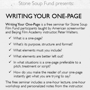 Writing Your One-Page