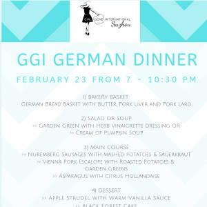 GGI German Dinner
