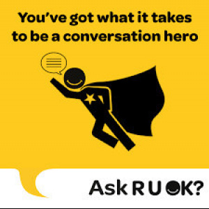 R U OK? A Conversation Could Change A Life. Presented by Lifeline Shanghai.