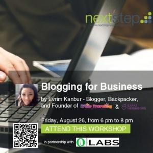 Aug 26 - Blogging for Business with Evrim Kanbur