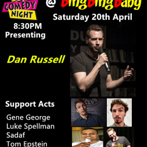 Stand-up Comedy Night at BingBingBaby 8:30pm Sat 20th April